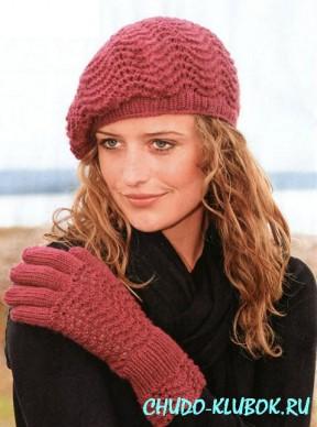 вязание спицами перчатки