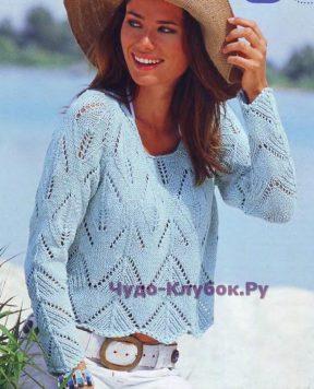 671 Пуловер с рукавами реглан